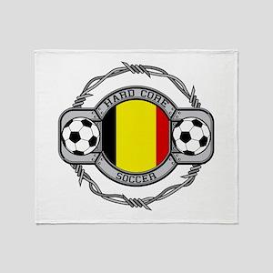 Belgium Soccer Throw Blanket