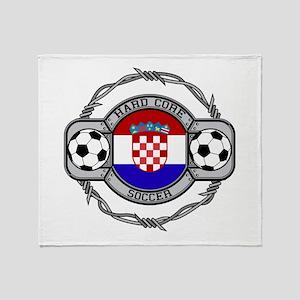 Croatia Soccer Throw Blanket