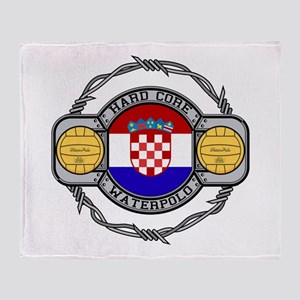 Croatia Water Polo Throw Blanket