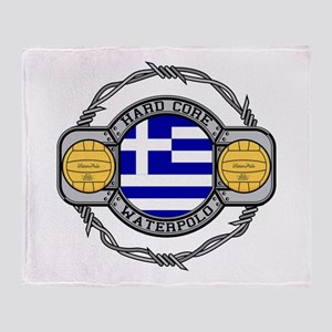 Greece Water Polo Throw Blanket
