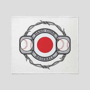 Japan Baseball Throw Blanket