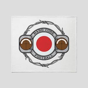Japan Football Throw Blanket