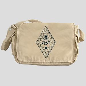 Zeta Beta Tau Badge in Blue Messenger Bag