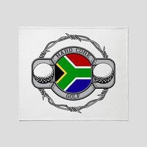 South Africa Golf Throw Blanket