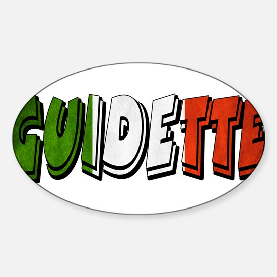 guidette flag 1 Sticker (Oval)