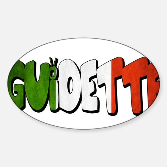guidette flag 2 Sticker (Oval)