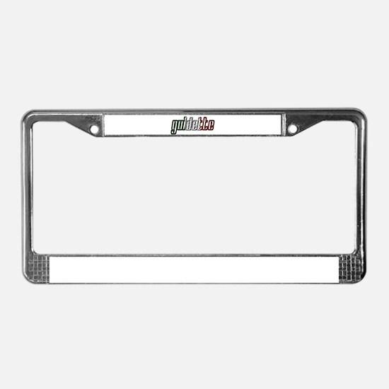 guidette flag 3 License Plate Frame