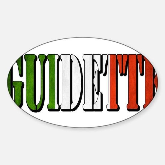 guidette flag 4 Sticker (Oval)