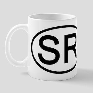 SR - Initial Oval Mug