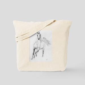 Freedom Trotting Arabian Tote Bag