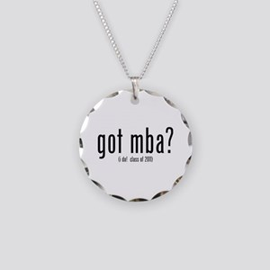 got mba? (i do! class of 2011) Necklace Circle Cha