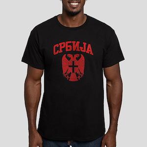 Serbia Men's Fitted T-Shirt (dark)