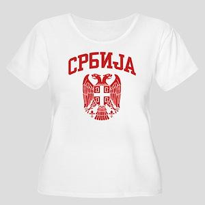 Serbia Women's Plus Size Scoop Neck T-Shirt