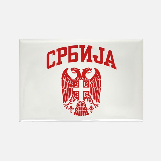Serbia Rectangle Magnet