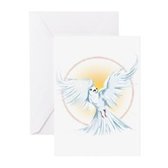 Dove Sun Flare Greeting Cards (Pk of 10)