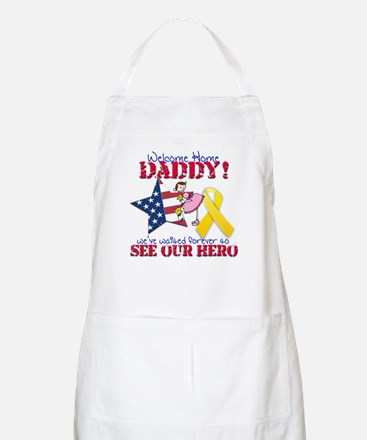 Welcome Home Daddy Apron