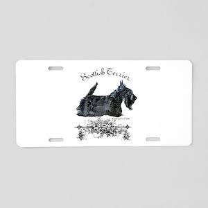 Scottish Terrier Profile Aluminum License Plate