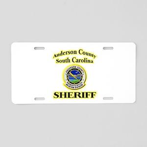 Anderson Sheriff Aviation Aluminum License Plate
