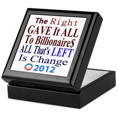 Right Gave To The Rich Keepsake Box