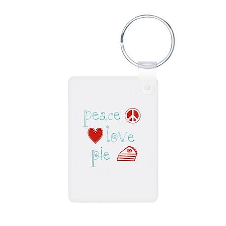 Peace, Love and Pie Aluminum Photo Keychain