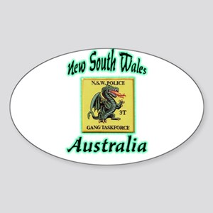 NSW Police Gang Task Force Sticker (Oval)