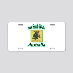NSW Police Gang Task Force Aluminum License Plate