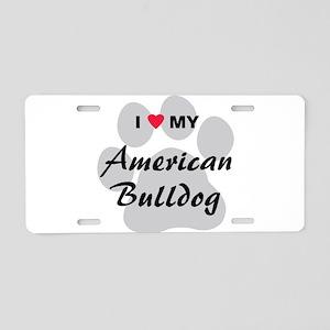 American Bulldog Aluminum License Plate