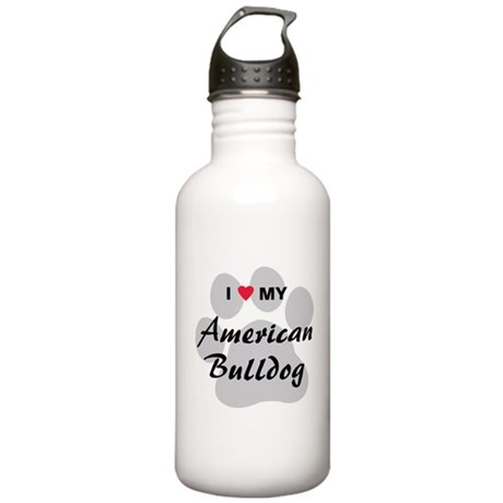 American Bulldog Stainless Water Bottle 1.0L