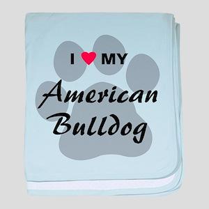 American Bulldog baby blanket