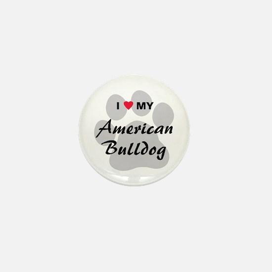 American Bulldog Mini Button
