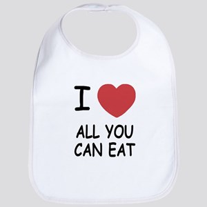 I heart all you can eat Bib