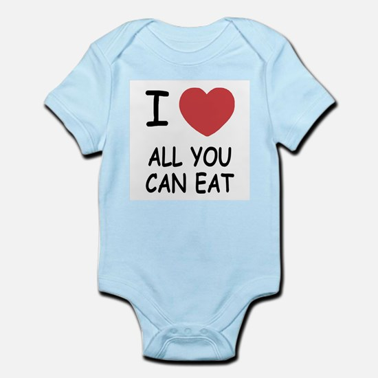 I heart all you can eat Infant Bodysuit