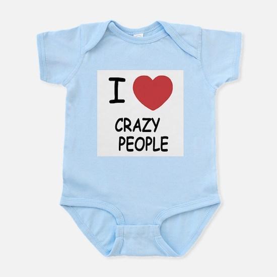I heart crazy people Infant Bodysuit