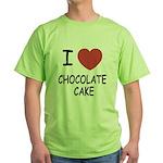 I heart chocolate cake Green T-Shirt