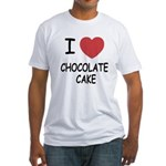 I heart chocolate cake Fitted T-Shirt
