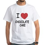 I heart chocolate cake White T-Shirt