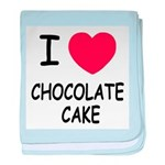 I heart chocolate cake baby blanket