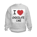 I heart chocolate cake Kids Sweatshirt