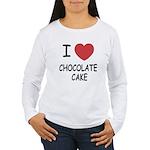 I heart chocolate cake Women's Long Sleeve T-Shirt