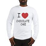 I heart chocolate cake Long Sleeve T-Shirt