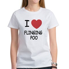 I heart flinging poo Women's T-Shirt