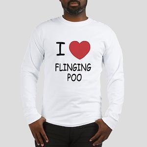 I heart flinging poo Long Sleeve T-Shirt