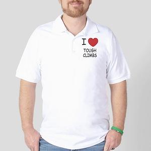 I heart tough climbs Golf Shirt