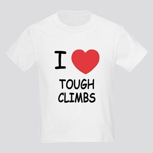 I heart tough climbs Kids Light T-Shirt