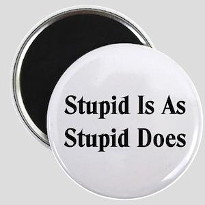 Stupid Is Magnet