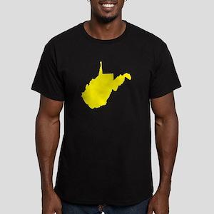 Yellow West Virginia Men's Fitted T-Shirt (dark)