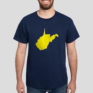 Yellow West Virginia Dark T-Shirt