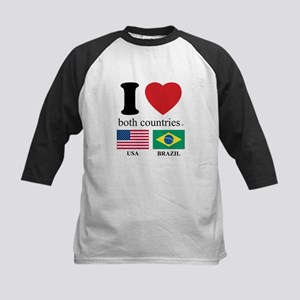 USA-BRAZIL Kids Baseball Jersey