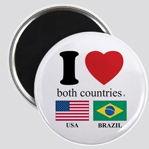 USA-BRAZIL Magnet