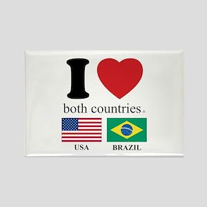 USA-BRAZIL Rectangle Magnet